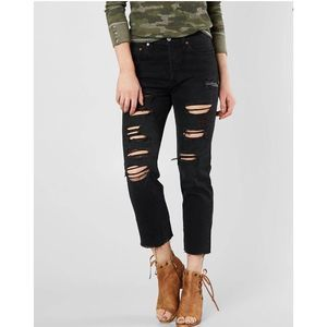 Levi's 501 RARE Ultra Destroyed High Rise Skinny